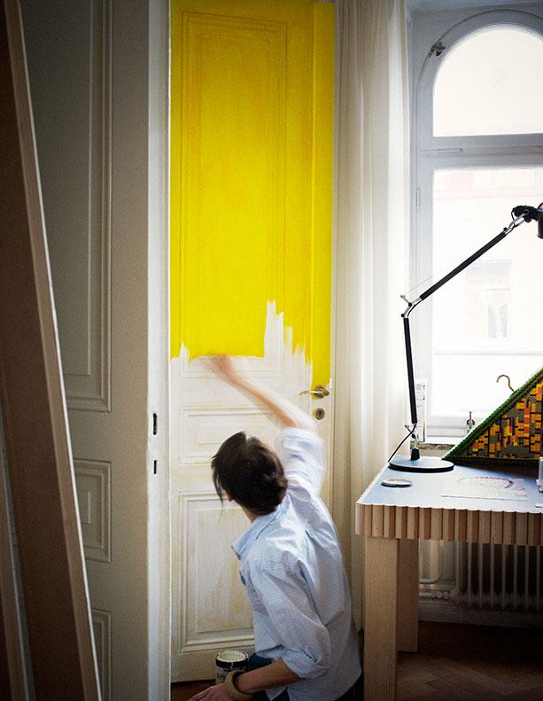 cilla ramnek gula dörrar