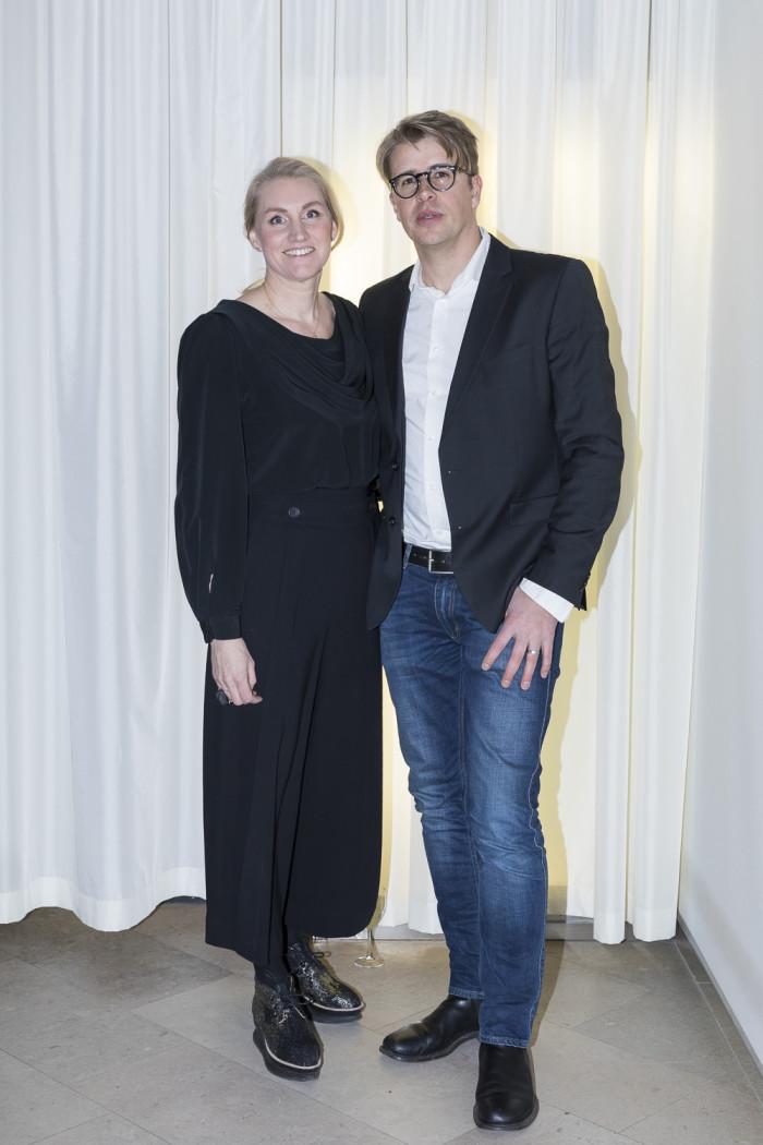 Anna Hänström, projektledare Residence och för utställningen Designed to Last och Jonas Lindbom