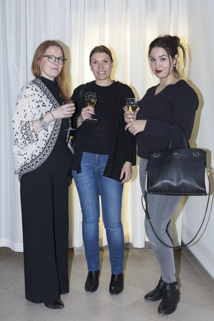 Annie Lindgren, Annika Kampmann och Beatrice Hedrén.