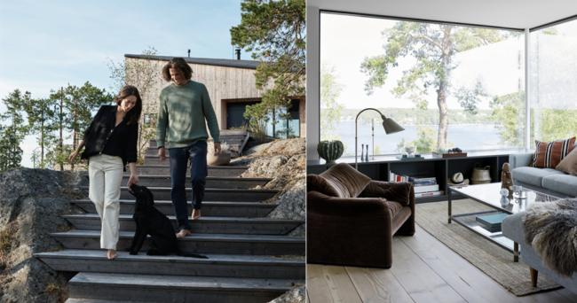 Harmoniskt arkitektritat sommarboende på Ingarö