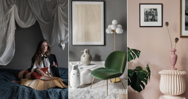 Eklektiskt hemma hos fashionistan Linn Eklund