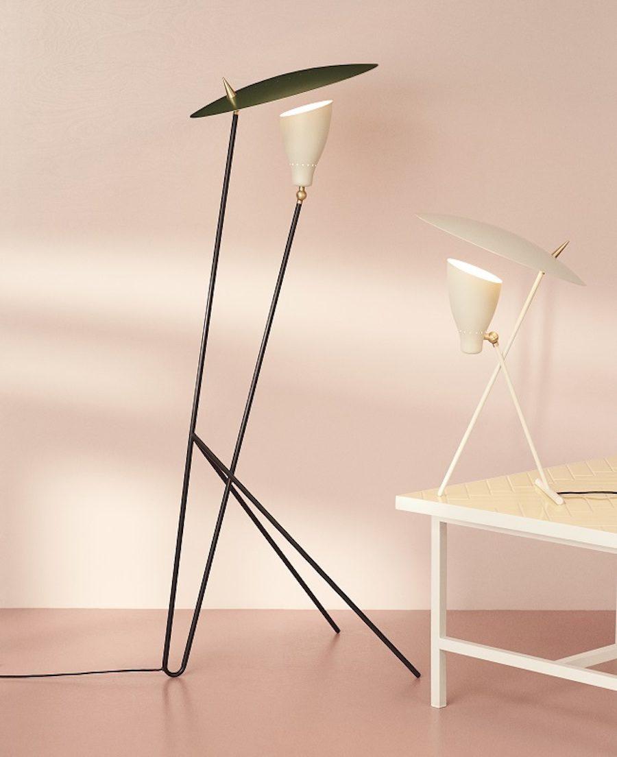 Golv- och bordslampan Sillhouette designad av Svend Aage Holm-Sørensen har nu återlanserats av Warm Nordic.