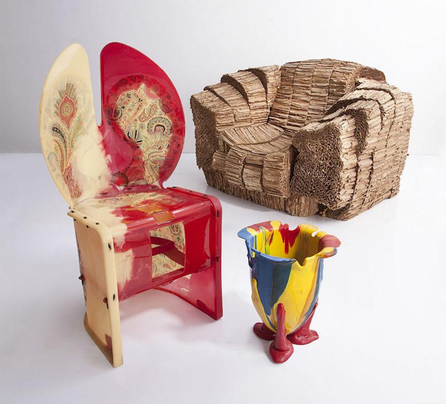Bild på möbler från Auktionstipsets Lisa MIlberg och Leo Forssells designidol Gaetano Pesce.
