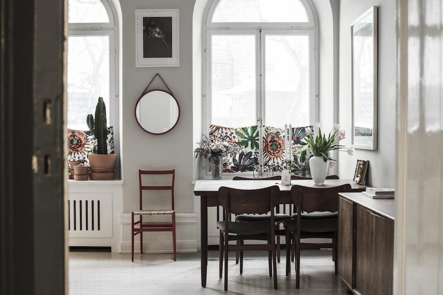 Bild på matplats med utsikt hemma hos supermodellen Frida Gustavsson och Marcel Engdahl.
