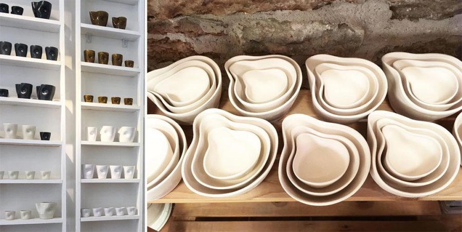 Vacker keramik på C Jensen på Gotland.