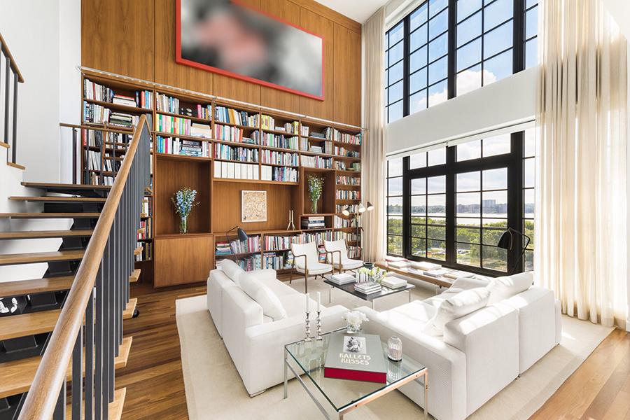 New York etage Engelbert soffor och bokhyllor