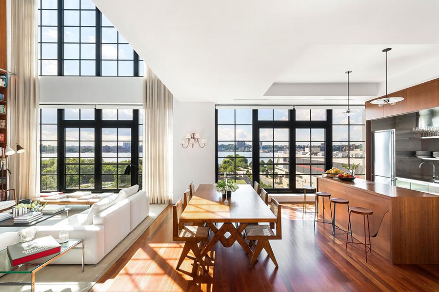 New York etage Engelbert kök utsikt