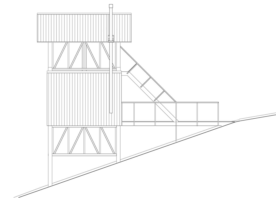 lofthuset ritning