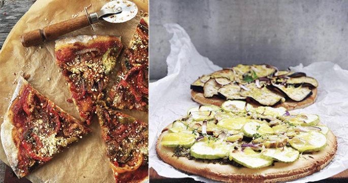 Vegansk pizza utan ost