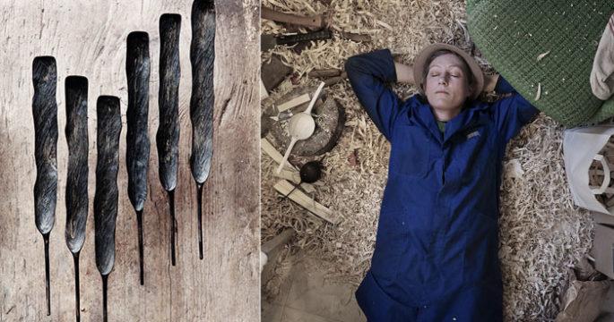 Trärent: Hennes unika skedar gör succé i krogvärlden