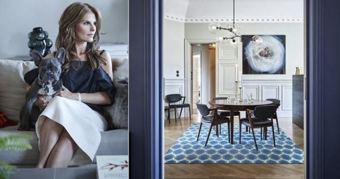 Kika in hemma hos modedrottningen Nathalie Schuterman