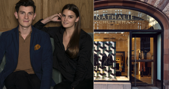 Spana in Nathalie Schutermans nya butiksskyltning