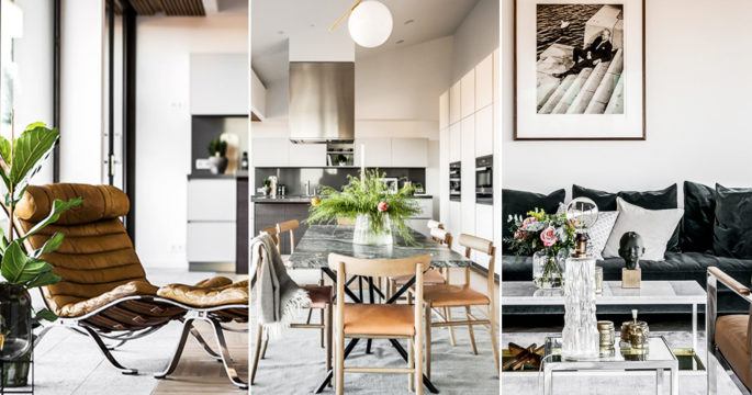 Unikt penthouse – inrett med svensk och dansk design