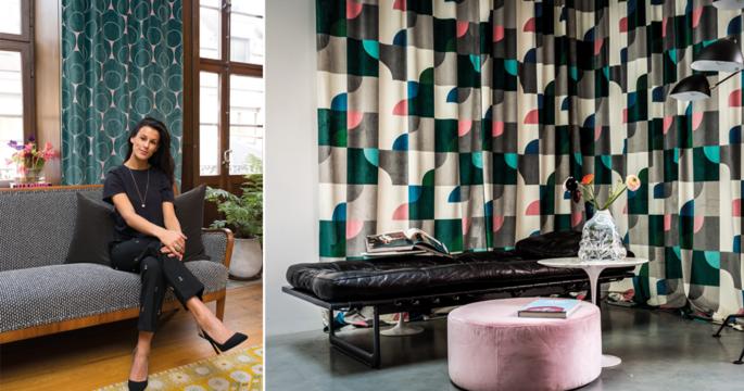 Hon lanserar art déco-inspirerade gardiner i sammet – se kollektionen