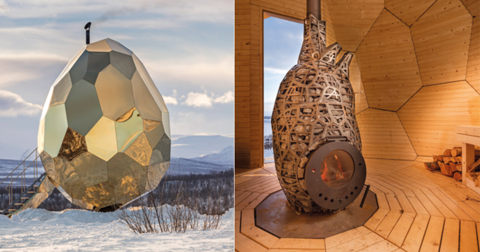 Riksbyggen lanserar bastu i guld – med magisk utsikt