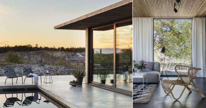 Arkitektritat sommarhus på Gotland – med magisk pool