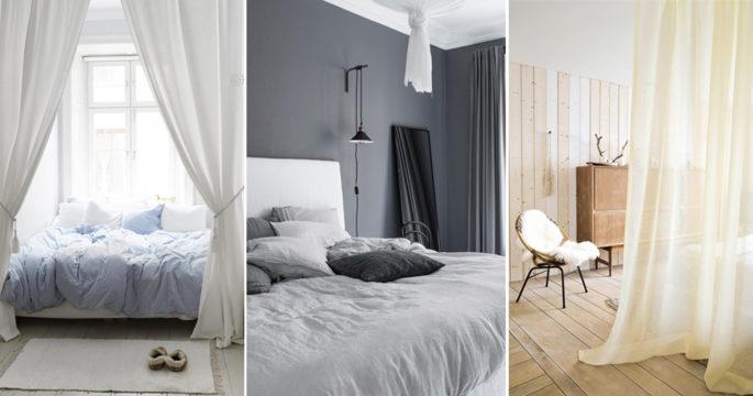 9 fina sätt att inreda med gardiner i sovrummet