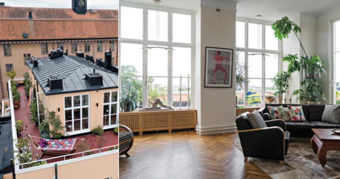 Veckans hem: Penthouse med villakänsla på Södermalm