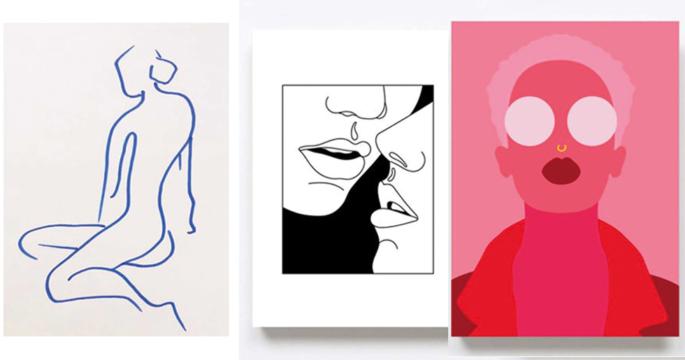 18 posters från 9 kvinnliga konstnärer
