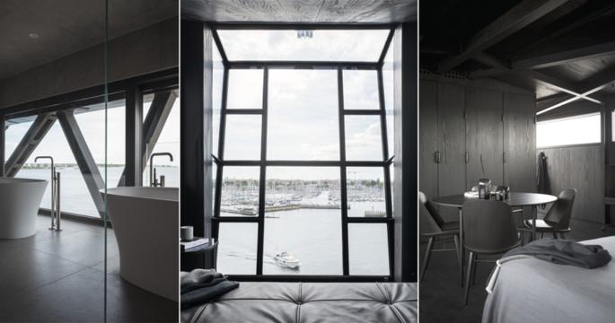 Unikt lyxboende i en lyftkran – inrett med dansk design