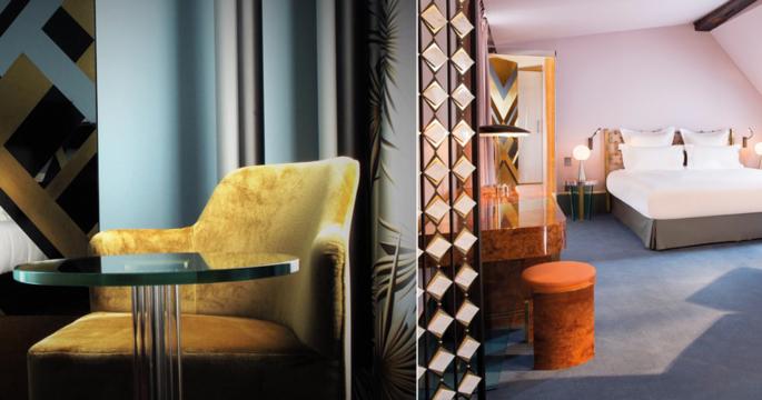 Från nedgången 1700-talsbyggnad till art déco-hotell i Paris