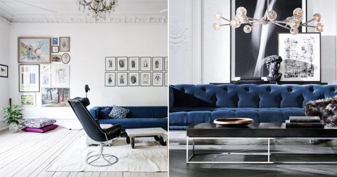 Inred med blå soffa – 11 snygga tips