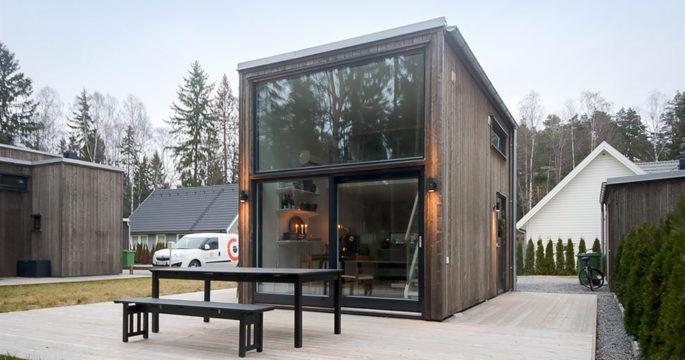 Exklusiv designvilla på 33 kvadrat – mitt i naturen