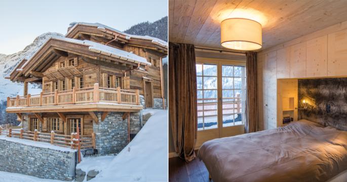Kika in i de lyxiga alpstugorna i pittoreska Grimentz – nu till salu