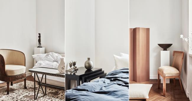 Titta in i vackra lägenheten stylad med Magnibergs sängkläder
