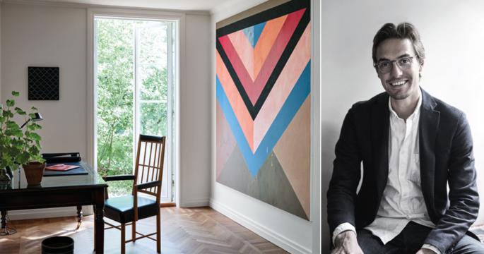Titta in hemma hos konstentusiasten Henrik Kanekrans