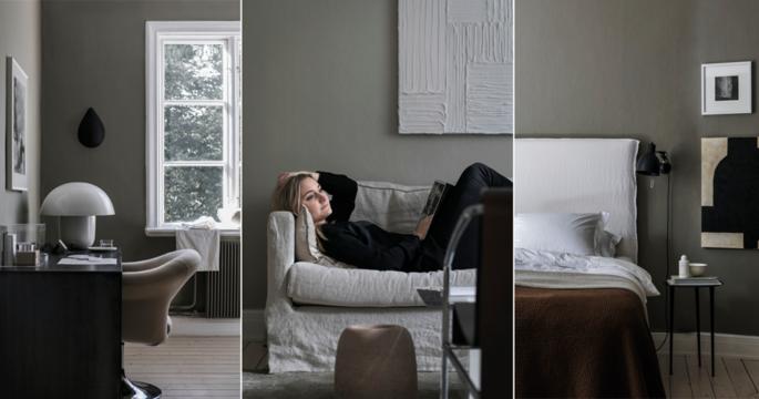 Harmonisk inredning med en tvist hemma hos stylisten Elin Kickén