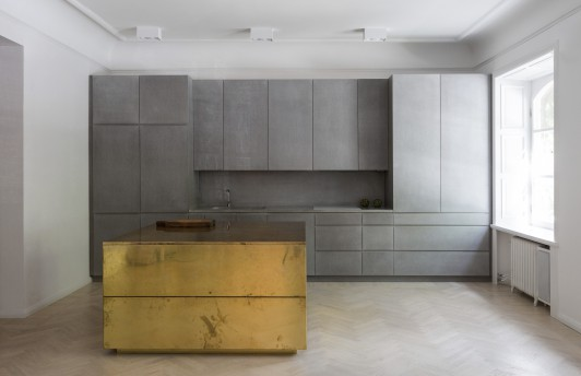 The gold and grey apartment Richard Lindvall