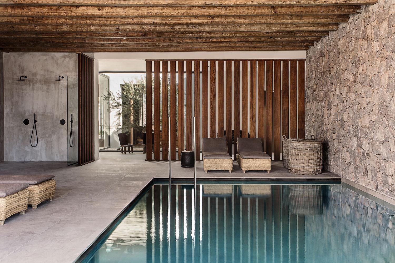 vackert hotell på grekland