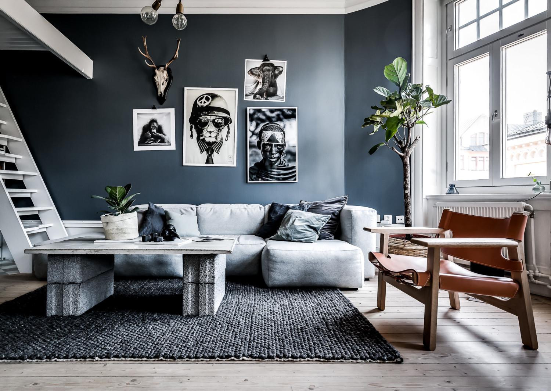 V lkommen hem till mig henrik nero - Muebles grises paredes color ...