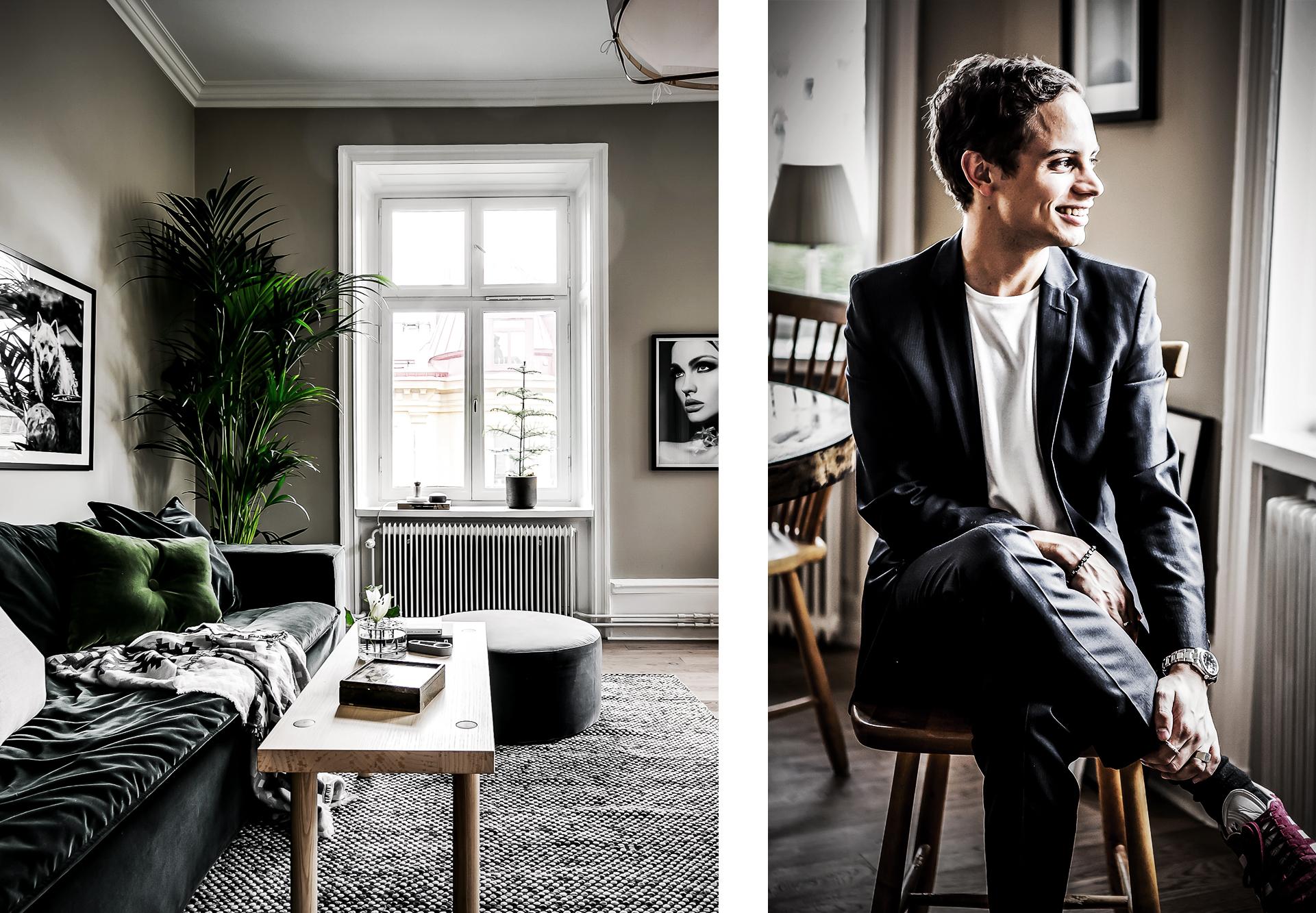 Kika in hemma hos Daniel Redgert